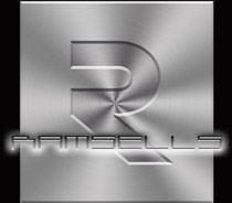 Ramsells logotype metall